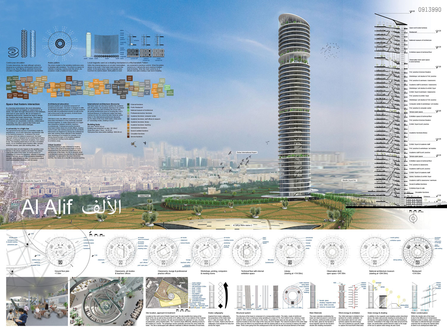 akka al alif vertical campus educational skyscraper landscape urban environment