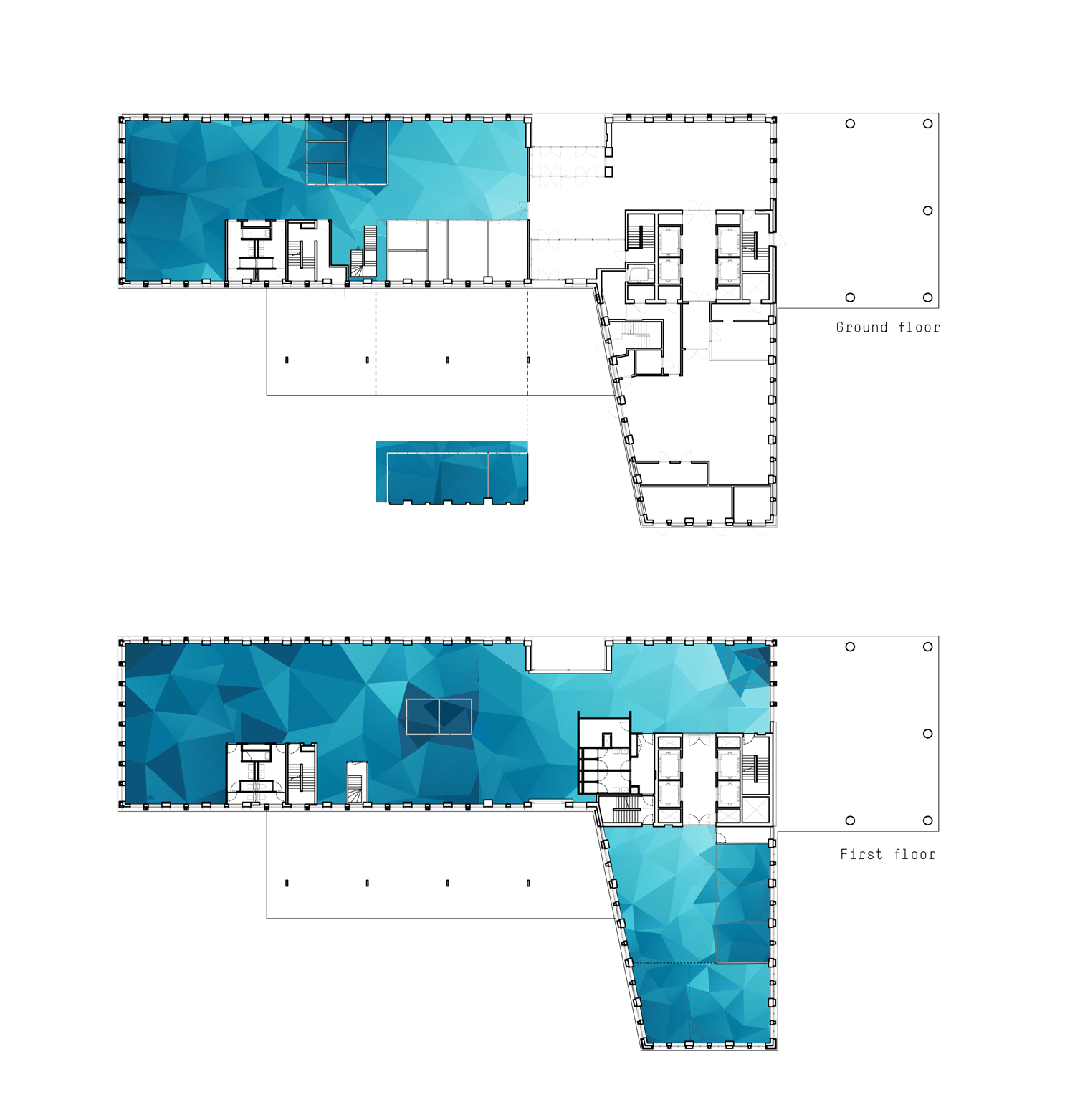 Colourful floors sketches at GRI Amsterdam from Akka Architects